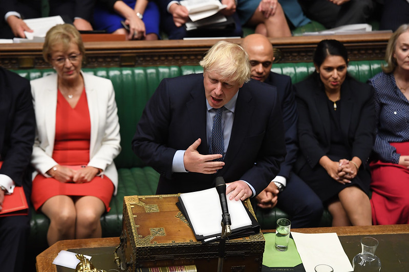 Boris Johnson's Statement to the House of Commons 25/09/2019. Photo credit: UK Parliament / Jessica Taylor