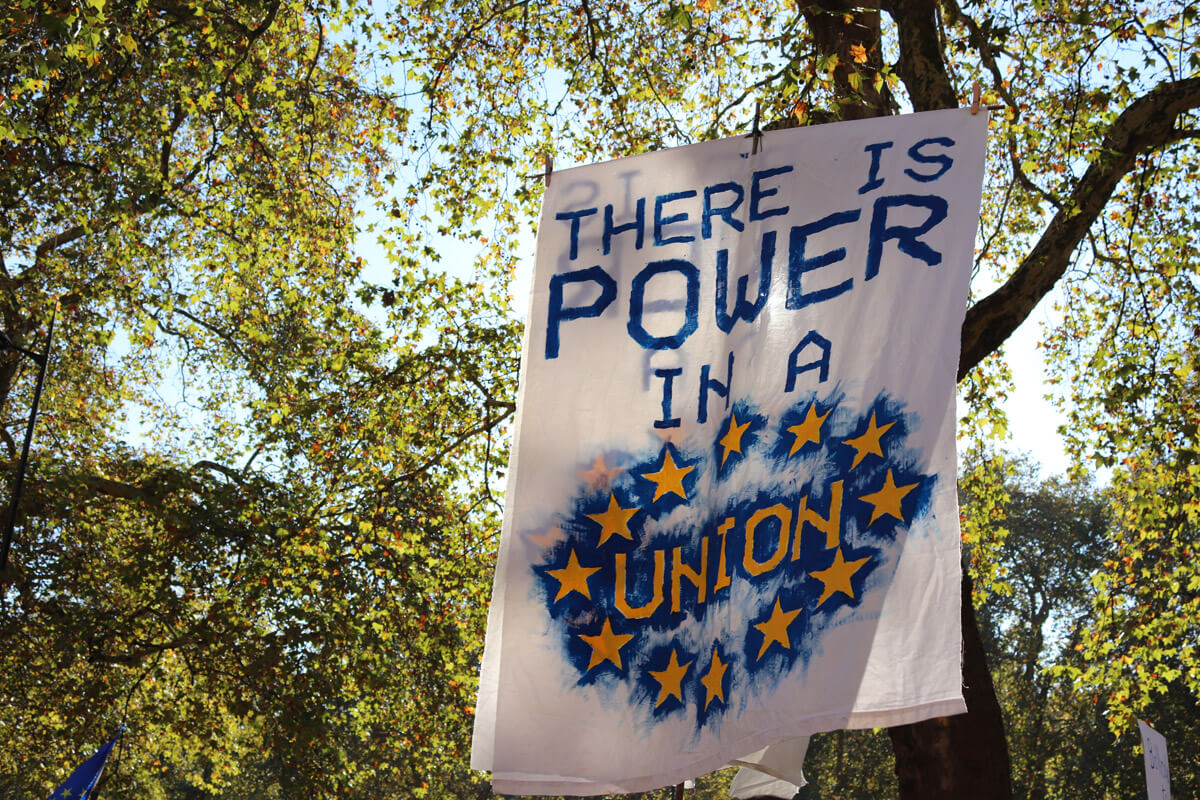'There is Power in a Union' poster