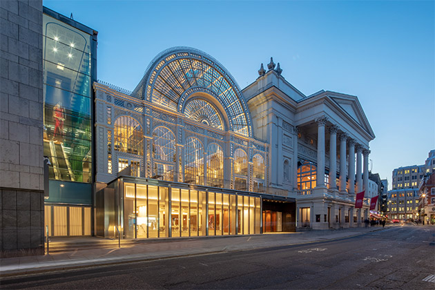 Royal Opera House in London exterior