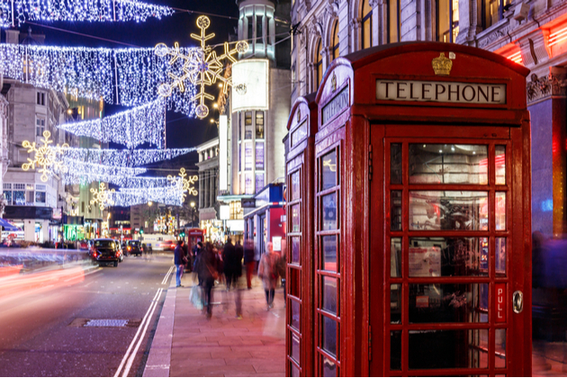 Soho in Christmas, London