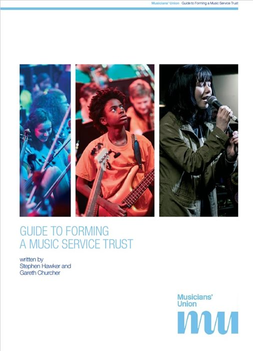 Cover: Guide to forming amusic trust , written by Stephen Hawker and Gareth Churcher